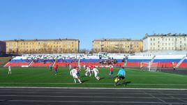 Центральный стадион в Мурманске.