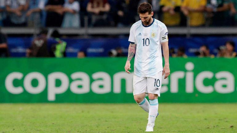 3 июля. Белу-Оризонти. Бразилия - Аргентина - 2:0. Лионель Месси. Фото Reuters