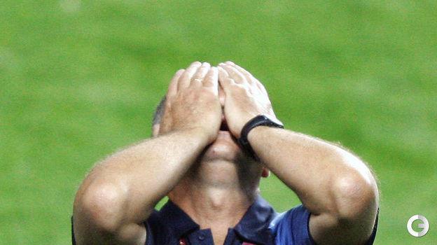 4 июля 2004 года. Лиссабон. Португалия - Греция - 0:1. Луиз Фелипе Сколари. Фото AFP