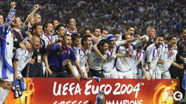 4 июля 2004 года. Лиссабон. Португалия - Греция - 0:1. Фото AFP