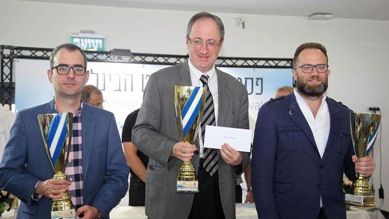 Леньер Домингес, Борис Гельфанд и Павел Эльянов (слева направо). Фото Владимир Барский