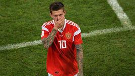 Суббота. Сочи. Россия - Хорватия - 2:2, пенальти - 3:4. Федор Смолов после завершения матча.
