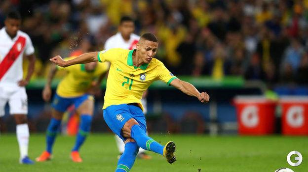 7 июля. Рио-де-Жанейро. Бразилия – Перу – 3:1. Ришарлисон ставит точку в матче. Фото Reuters