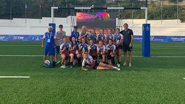 Женская сборная России по регби-7 после матча за третье место Универсиаде-2019 в Неаполе.