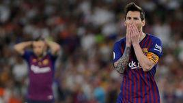 """25 мая. Севилья. """"Барселона"""" - """"Валенсия"""" - 1:2. Лионель Месси после финального свистка."""