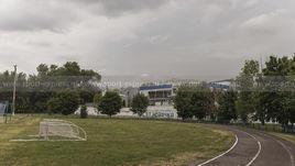 """Июль. Алексеевка. Стадион """"Эфирщик"""" и химический комбинат недалеко от колонии."""