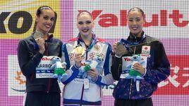 Светлана Колесниченко (в центре), Она Карбонель (слева) и Юкико Инуи.