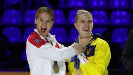 20 июля. Будапешт. Софья Великая (слева) и Ольге Харлан на церемонии награждения.
