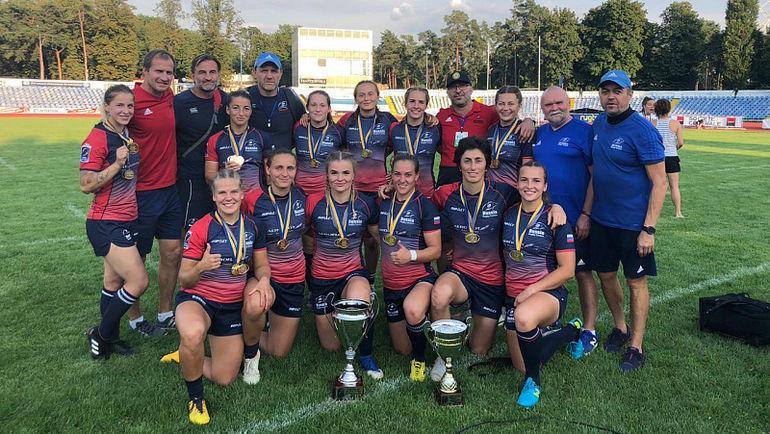 Женская сборная России по регби-7 выиграла второй этап чемпионата Европы. Фото rugby.ru