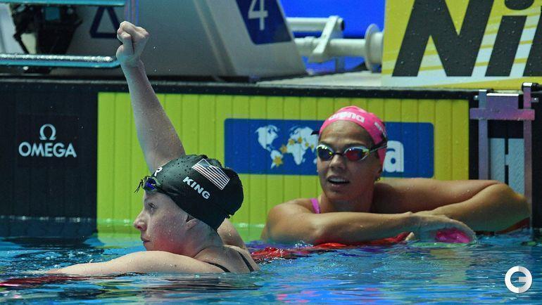 23 июля. Кванджу. Лилли Кинг (слева) и Юлия Ефимова.