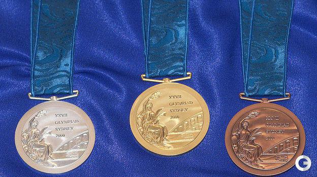 Медали Олимпийских игр-2000 в Сиднее. Фото REUTERS
