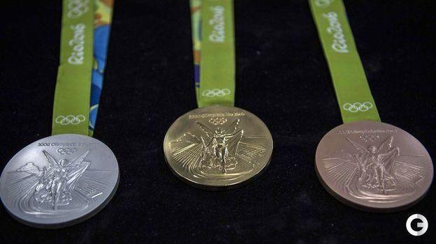 Медали Олимпийских игр-2016 в Рио-де-Жанейро. Фото AFP