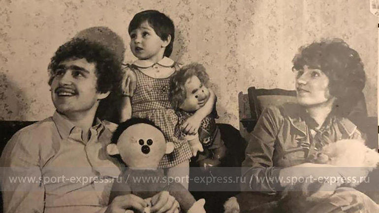 Федор, Ольга и маленькая Настя. Фото из архива семьи Черенковых