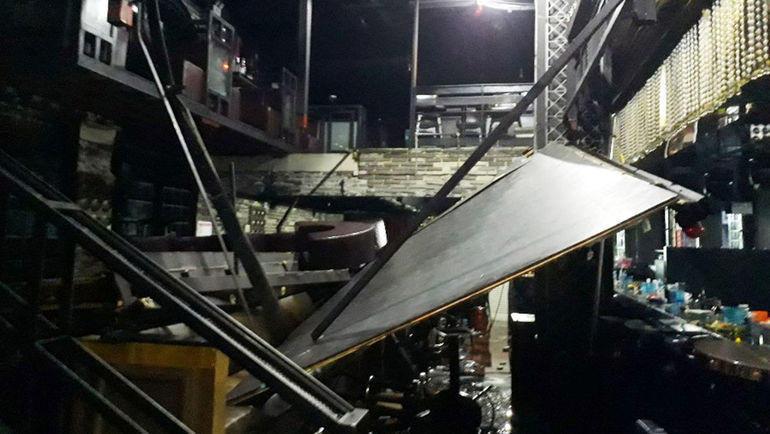 В ночном клубе Кванджу обрушился балкон. Пострадали спортсмены. Фото AFP
