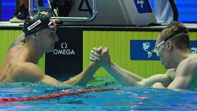 Кэлеб Дрессел и Андрей Минаков. Фото AFP
