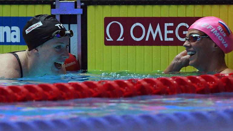 Лилли Кинг (слева) и Юлия Ефимова. Фото AFP