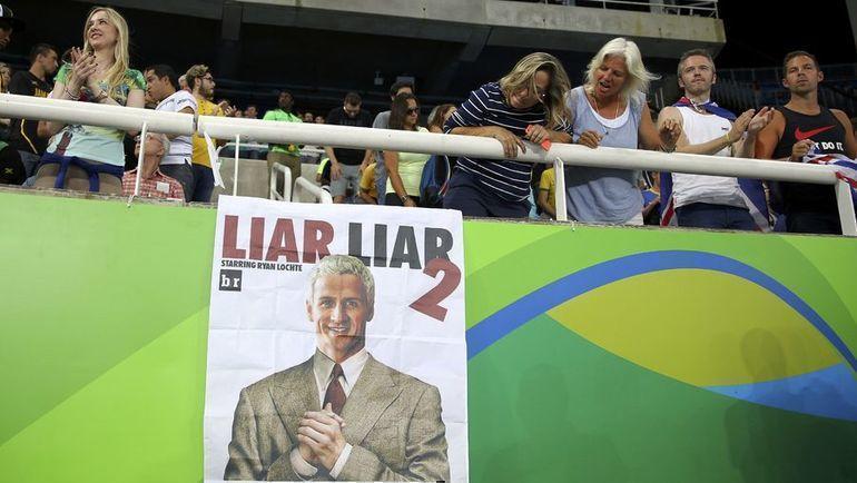 """""""Лжец, лжец 2"""". Плакат, посвященный Райану Лохте. Фото REUTERS"""