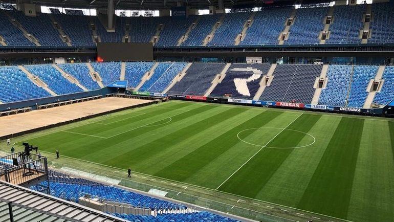 """Стадион """"Зенита"""" после демонтажа сцены и оборудования группы Rammstein. Фото vk.com/nca"""