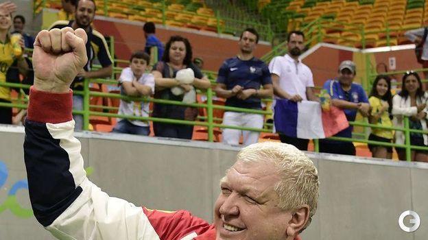 2016 год. Евгений Трефилов празднует победу сборной на Олимпиаде. Фото AFP
