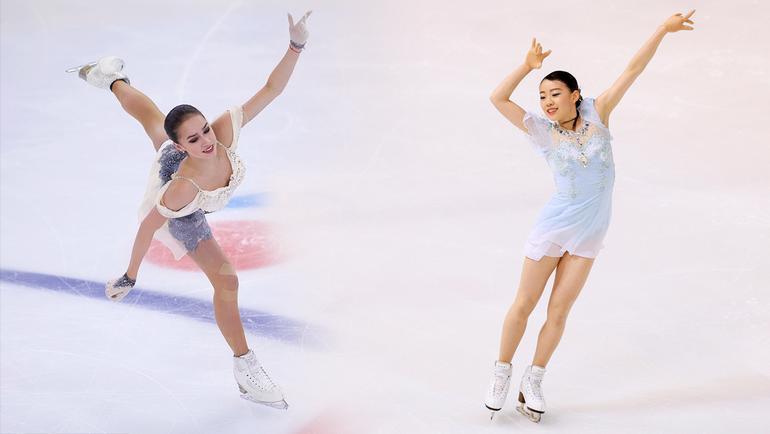 Алина Загитова и Рика Кихира.