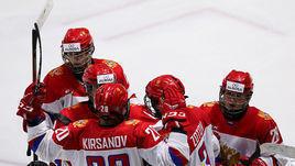 Юниорская сборная России обыграла Финляндию.