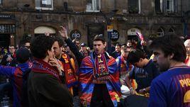 "Фанаты ""Барселоны""."
