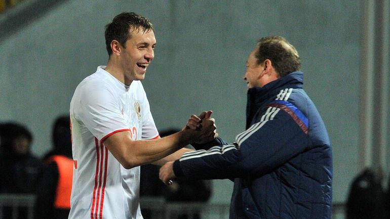 Артем Дзюба и Леонид Слуцкий. Фото Алексей Иванов