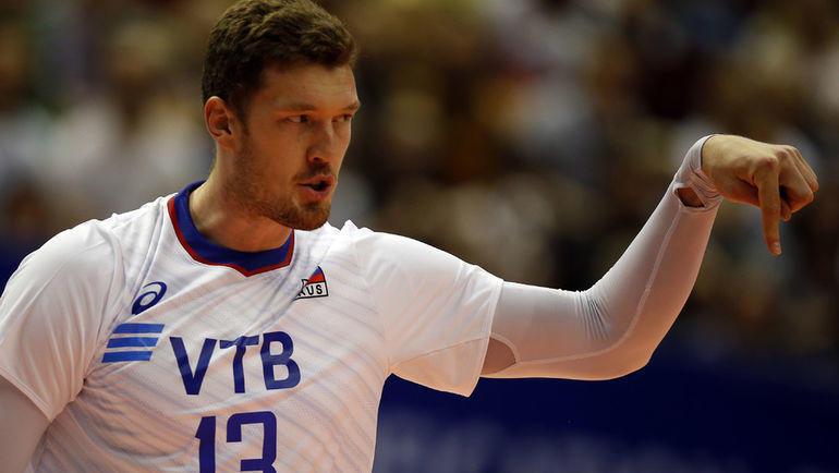 Дмитрий Мусэрский в составе сборной России. Фото FIVB