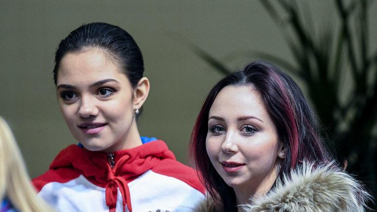 """Евгения Медведева (слева) и Елизавета Туктамышева. Фото Дарья Исаева, """"СЭ"""""""