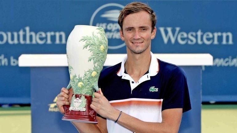 Даниил Медведев выиграл турнир в Цинциннати. Фото ATP Tour