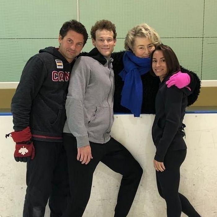 (слева направо) Николай Морозов, Андрей Новоселов, Татьяна Тарасова и Ксения Столбова. Фото instagram.com