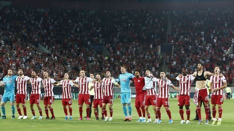 «Олимпиакос»: в шаге от группы Лиги чемпионов. Фото Twitter.com/olympiacosfc