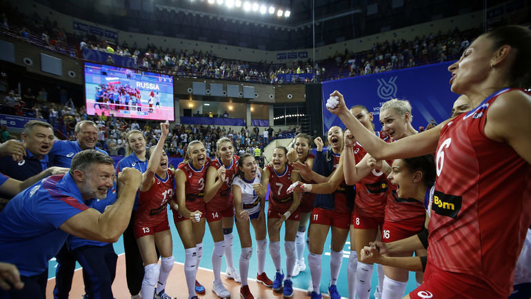 Сборная России по волейболу. Фото FIVB