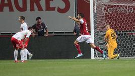 """22 августа. Брага. """"Брага"""" - """"Спартак"""" - 1:0. 74-я минута. Красно-белые пропустили единственный гол."""