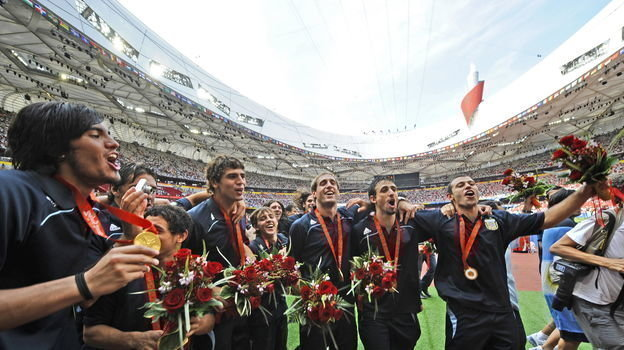 23 августа 2008 года. Пекин. Нигерия - Аргентина - 0:1. Фото AFP
