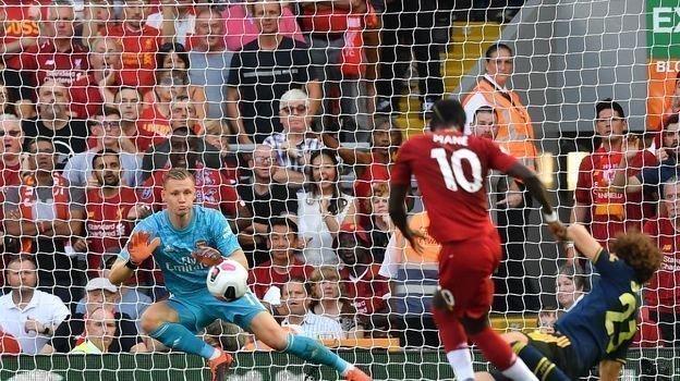 "24 августа. Ливерпуль. «Ливерпуль» - «Арсенал» - 3:1. Бернд Лено защищает ворота ""Арсенала"". Фото REUTERS"