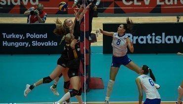 26 августа. Братислава. Германия — Россия — 3:2. Россиянки потерпели первое поражение на чемпионате Европы.