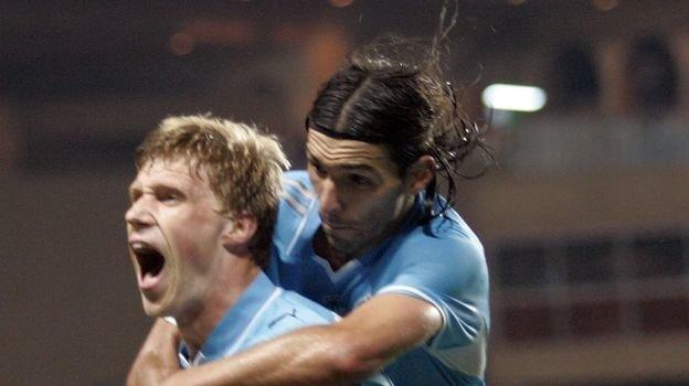 29 августа 2008 года. Монако. «Зенит» - «Манчестер Юнайтед» - 2:1. Павел Погребняк и Данни. Фото AFP