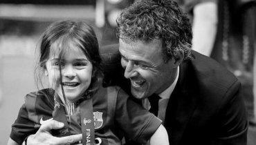 Луис Энрике с дочерью Ксаной.