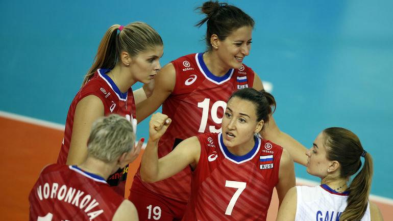 Женская сборная России сыграет с Италией за выход в полуфинал чемпионата Европы. Фото FIVB