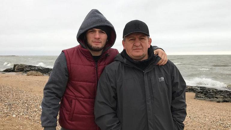 Хабиб и Абдулманап Нурмагомедовы. Фото Инстаграм