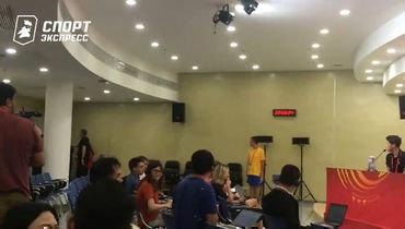 Болельщик сборной России прорвался напресс-конференцию после матча сАргентиной