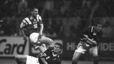 18 июня 1992 года. Норрчепинг. Шотландия - СНГ - 3:0. Дмитрий Кузнецов заменил в игре Сергея Алейникова.
