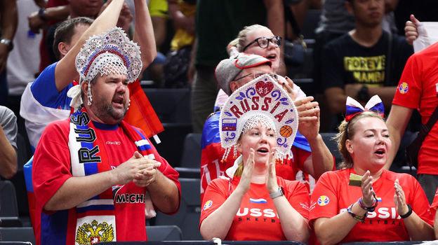 6 сентября. Фошань. Польша — Россия — 77:74. Болельщики сборной России. Фото AFP