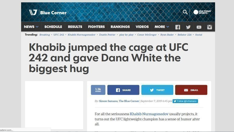 MMA Junkie - о победе Хабиба над Порье.