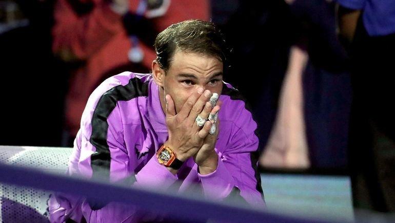 Эмоции Рафаэля Надаля. Фото AFP
