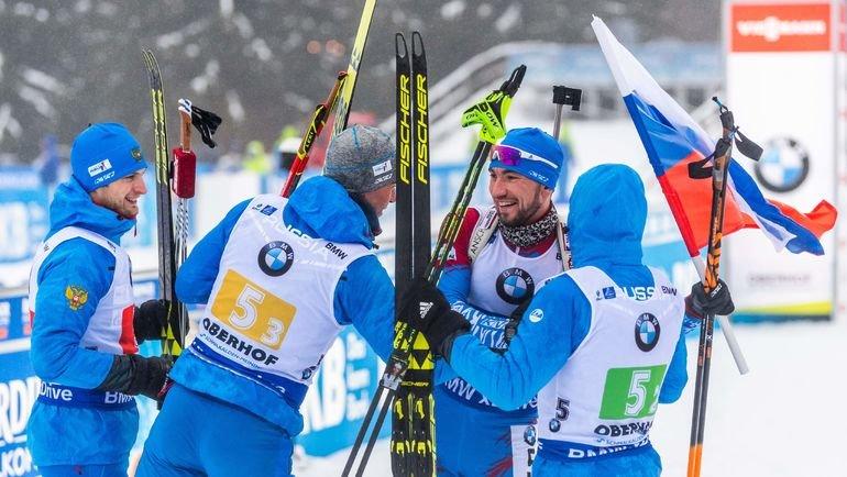 Максим Цветков, Дмитрий Малышко, Александр Логинов и Евгений Гараничев. Фото AFP