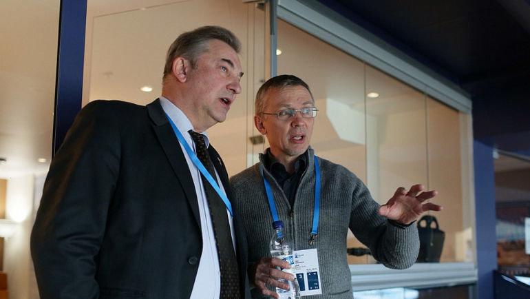 Владислав Третьяк (слева) иИгорь Ларионов. Фото ФХР