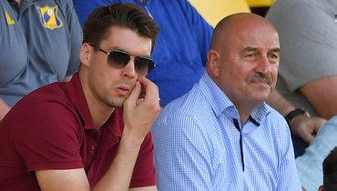 Томас Цорн иСтанислав Черчесов налетнем турнире вАвстрии.