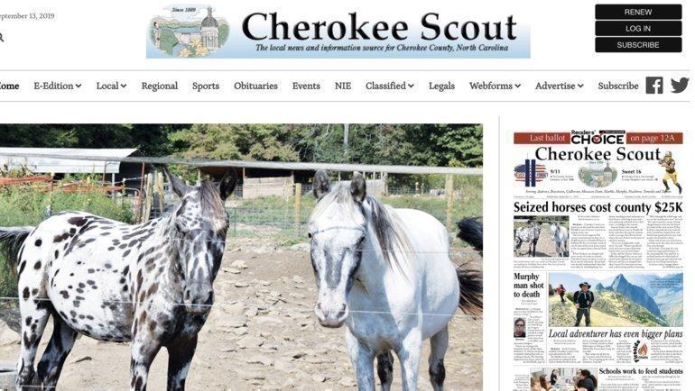 Дэвид Браун— издатель Cherokee Scout.